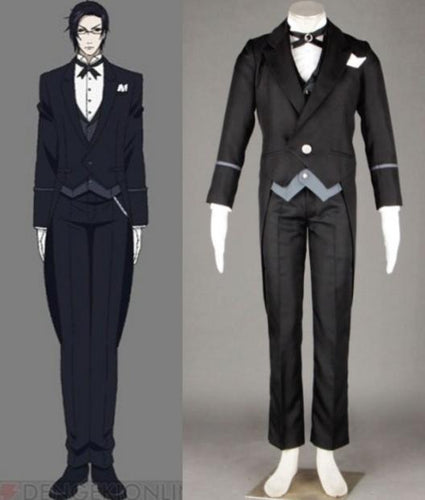 Black Butler Claude Outfit Cosplay Halloween Costumes