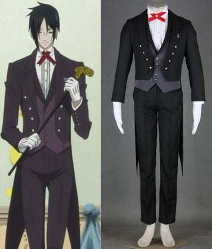 Black Butler Kuroshitsuji Sebastian Uniform Cosplay Costume