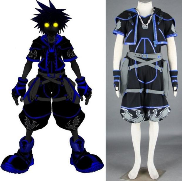 Kingdom Hearts Cosplay Black Sora Cosplay Costume Halloween