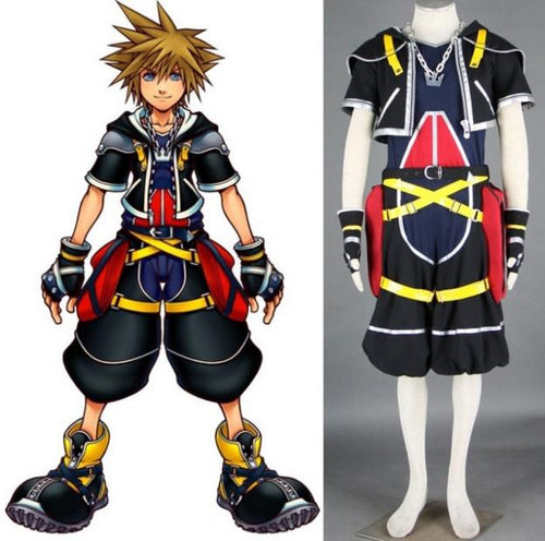 Kingdom Hearts Sora Primary Colour Outfit Cosplay Costume