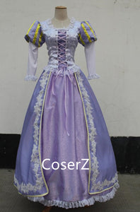 Custom-made Rapunzel Embroidery Dress, Princess Rapunzel Embroidery Costume