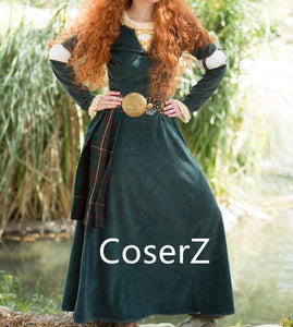 Merida Dress, Merida Costume Cosplay Costumes
