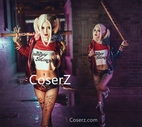 Suicide Squad Harley Quinn Costume, Harley Quinn Cosplay Costume