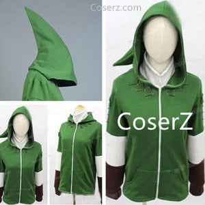 Custom The Legend of Zelda Link Green Hoodie Jacket Hoodies Sweater Cosplay