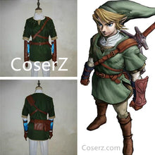 Custom The Legend of Zelda Costume, Link Costume, Link Cosplay Costume Halloween