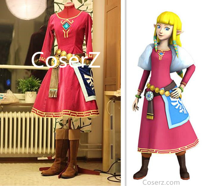 The Legend of Zelda Princess Zelda Cosplay Costume Custom Made