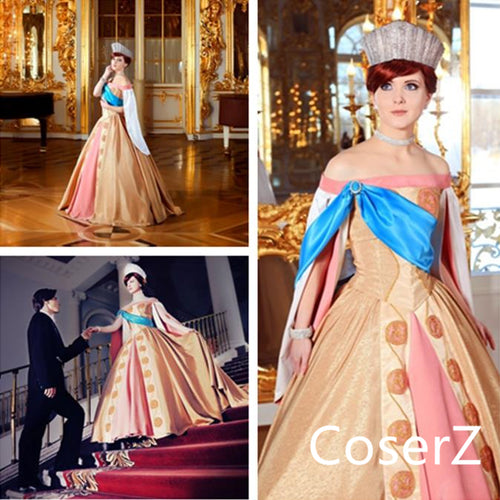Custom-made Anastasia Dress, Princess Anastasia Cosplay Costume