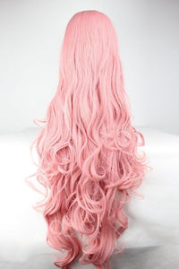 Pink Hair Fashion Anime Wig Hair Long Curly Big Wave Hair Wig Cosplay