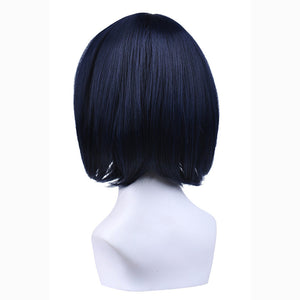 Kill La Kill Ryuko Matoi Short Hair Dark Blue Mixed Red Anime Cosplay Wig