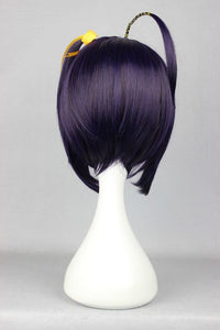 Lovelive New Two Braids Dark Purple 35cm Chuunibyou Demo Koi ga Shitai Takanashi Rikka Cosplay Wig