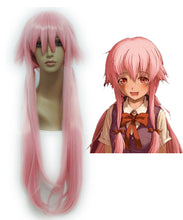 Future Diary Gasai Yuno 39 Inches Long Straight Pink Girl Cute Cosplay Wig