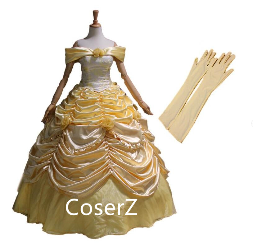 Custom-made Beauty and the Beast Princess Belle Costume Belle Dress