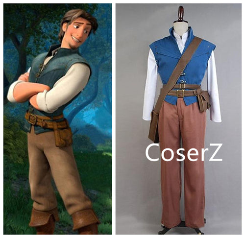 Custom-made Rapunzel Prince Flynn Rider lettuce Cosplay Costume Any Size