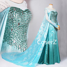 Elsa Dress, Elsa Cosplay costume, Elsa Blue Dresses Halloween Costume