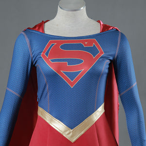 Supergirl Costume Superwoman Costume Supergirl Kara Danvers Cosplay with Cape