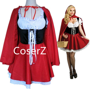 Custom Little Red Riding Hood Costume for Adult Girls