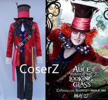 Alice in Wonderland 2 Mad Hatter Cosplay Costume Adult