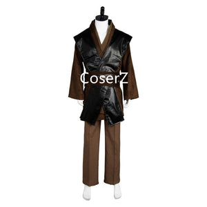 Star Wars Cosplay Costume Anakin Skywalker Costume Cosplay Halloween Outfit with Cape Set