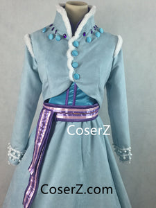Olaf's Frozen Adventure Short Anna Costume, Anna Dress, Anna Cosplay Costume