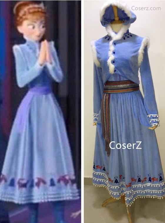 Custom Olaf's Frozen Adventure Anna Dress, Anna Costume, Anna