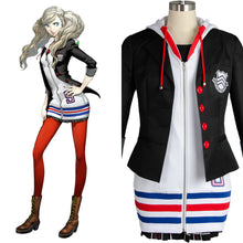 Persona 5 Anne Ann Takamaki Cosplay Costume (Jacket Shirt Skirt Stockings Vest)