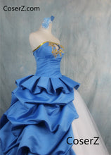 Fate Zero Saber Cosplay 10th Anniversary Artoria Pendragon Cosplay Dress Costume Dress+Gloves+Headdress