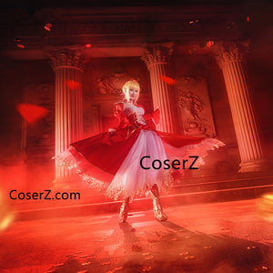 Fate Stay Night Saber Cosplay Fate Zero Artoria Pendragon Cosplay Costume Red Dress