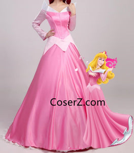 Princess Aurora Pink Dress, Sleeping Beauty Pink Aurora Dress Cosplay Costume