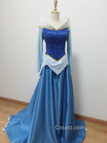 Aurora Dress, Aurora Blue Dress Costume Custom Made
