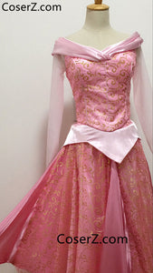 Sleeping Beauty Princess Aurora Dress, Aurora Cosplay Costume for Girls & Adult