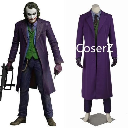 halloween costumes for men joker Jacket Batman The Dark Knight Joker Cosplay costume Carnival Cosplay fancy joker Costume Batman