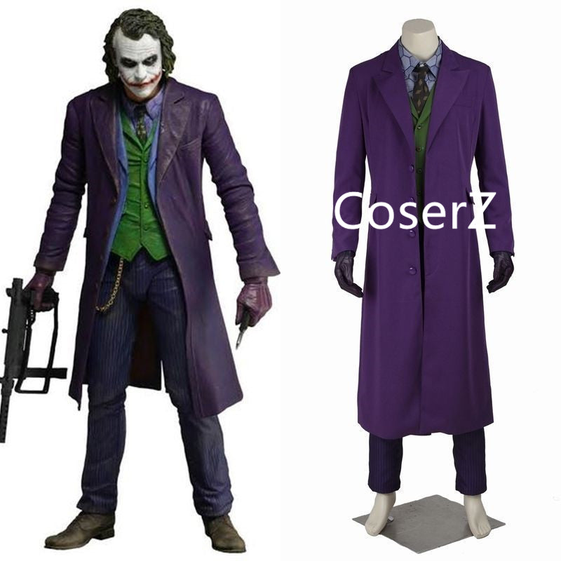halloween costumes for men joker jacket batman the dark knight joker cosplay costume carnival cosplay fancy