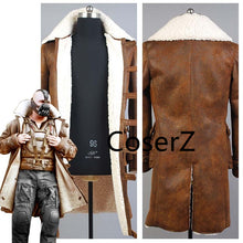 Custom Movie Batman Bane Dorrance Costume Leather Trench Coat