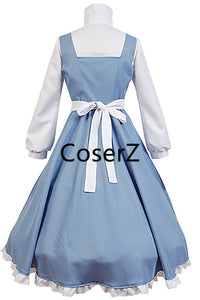 Beauty and The Beast Belle Maid Dress Belle Cosplay Maid Costume