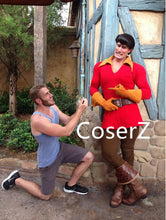 Custom Beauty and the Beast Cosplay Costume Gaston Costume with Top Gloves Belt