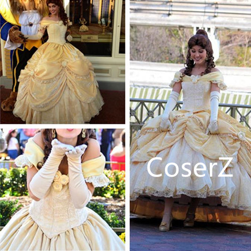 Custom-made Belle Dress, Princess Belle Cosplay Costume