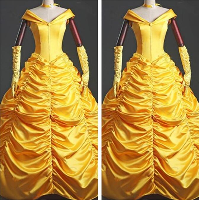 Custom Beauty and the Beast Belle Costume, Belle Dress Halloween Costume Lace up Back