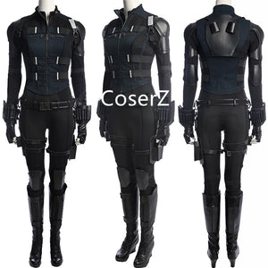 Black Widow Costume, Black Widow Jumpsuit Cosplay Natasha Romanoff Costume without Boots