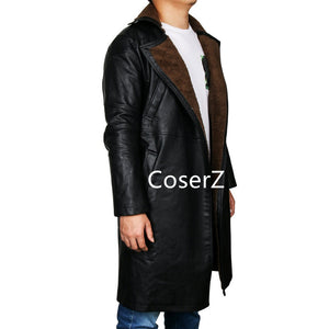 Blade Runner 2049 Officer K Trench Cosplay Costume, Ryan Gosling Jacket Long Leather Coat