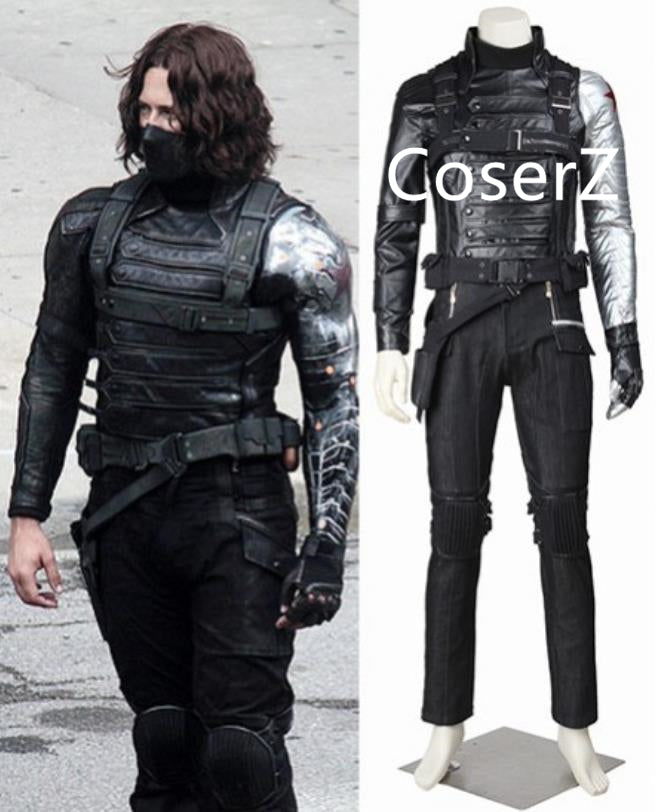 Captain America The Winter Soldier Cosplay Costume