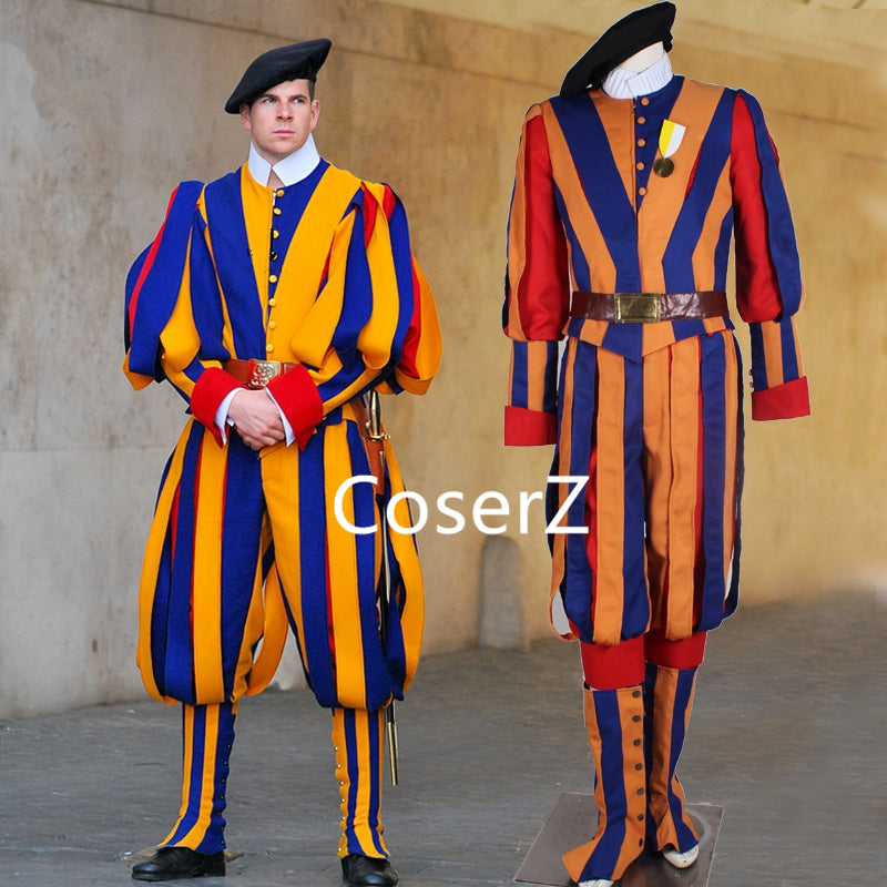 Custom Made Carnival Switzerland Soldiers Costume Cosplay Costume Swiss Guard Costume