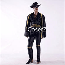 Chivalrous Robbers Swordsman Zorro Costume, Custom Zorro Cosplay Costume with Boots Cover