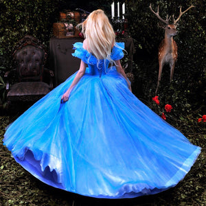 Cinderella Dress 2015 Movie, Cinderella Cosplay Costume