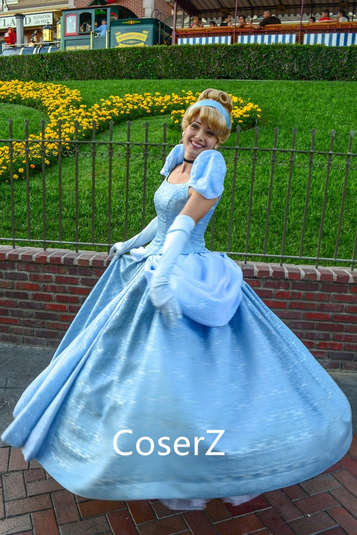 Custom-made Cartoon Cinderella Dress, Cinderella Cosplay Costume