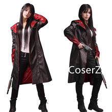 Devil May Cry Dante Cosplay Costume DMC 5 Leather Jacket Trench Coat