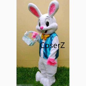 Custom Easter Bunny Mascot Cosplay Costume Bugs Rabbit Hare Easter Mascot for Adult