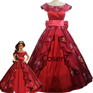 Elena of Avalor Costume for Adults, Princess Elena Costume, Princess Elena Dress Embroidery Style