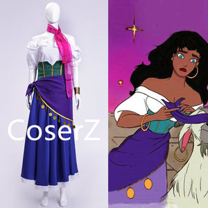 Custom Esmeralda Costume, Esmeralda Dress Cosplay Halloween Costume