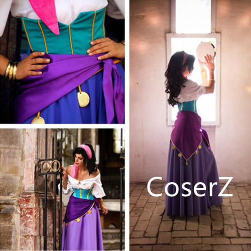 Custom-made Esmeralda Dress, Princess Esmeralda Cosplay Costume