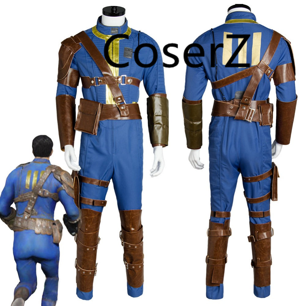 Fallout 4 FO Nate Cosplay Costume Vault #111 Jumpsuit Halloween Party Costume